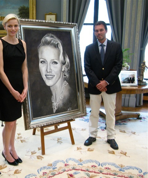 Portrait for HSH Princess Charlene of Monaco - Marine art ...