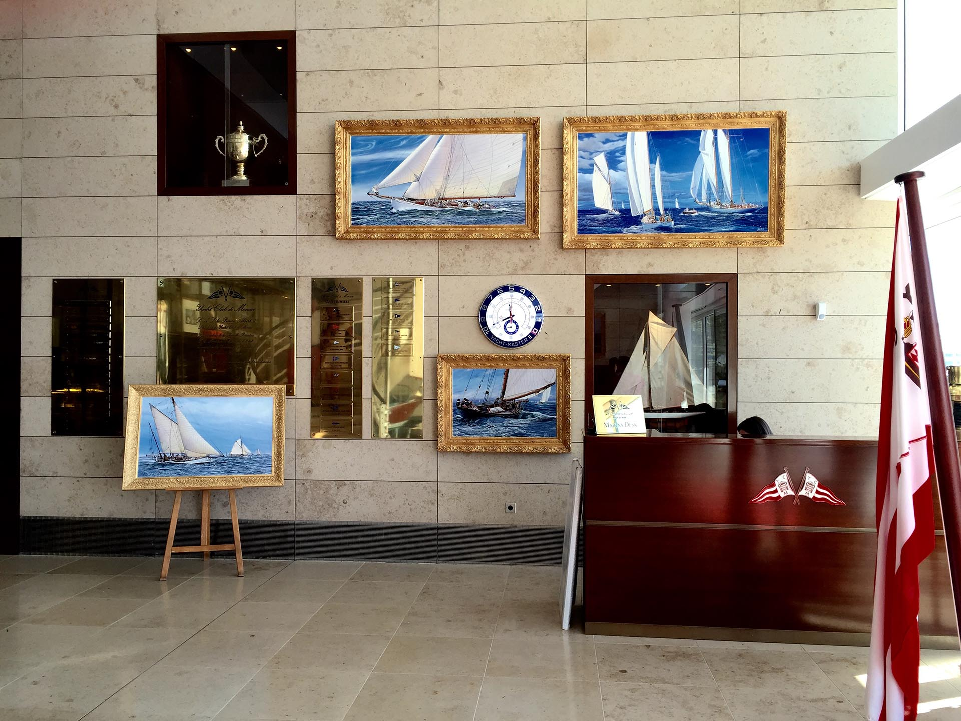 Art exhibition Yacht Club de Monaco